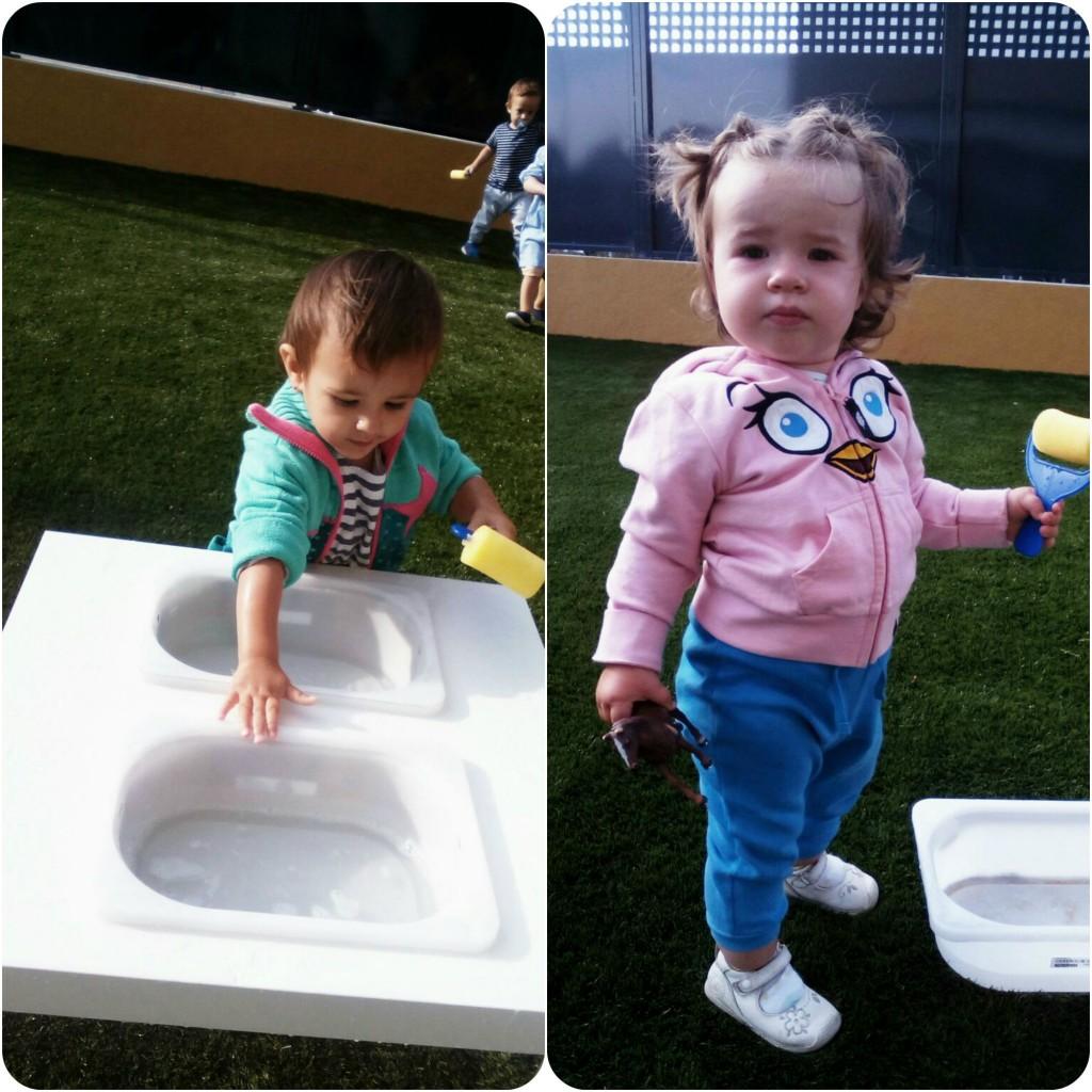 Emma y Adriana agua