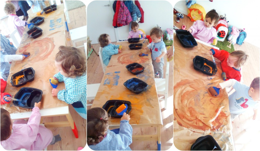 Pintando con rodillo