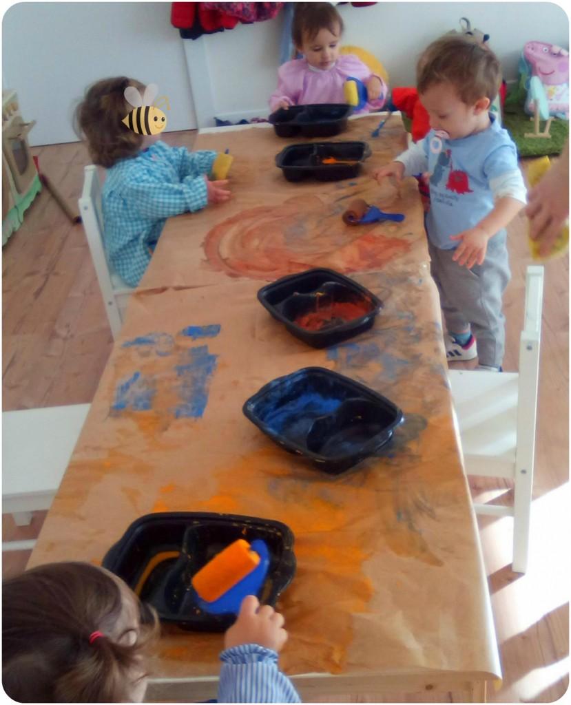 Pintando con rodillos