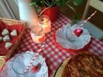 Cena de San Valentín en familia