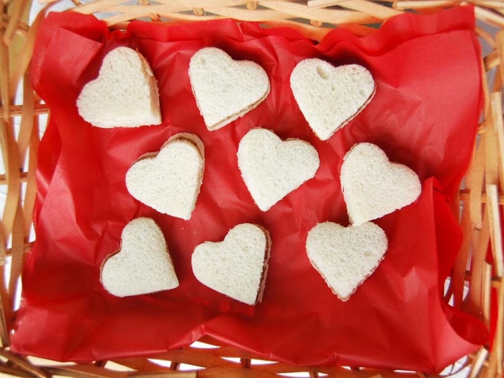 Sandwiches corazón